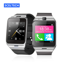 SCELTECH Bluetooth Smart Watch Health Mp3 Pedometer Android Smartwatch Gv18 with SIM Card Mobile GSM Wearable Device Phone(China)