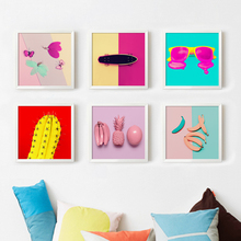 Surreal Abstract 3D Fruit Skateboarding Glasses Canvas Art Painting Print Poster Picture Wall Living Room Home Decoration Murals(China)