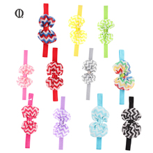 OL 11PCS Beautiful Girls Hairband Hair Accessories for Girl The Waves Flower Chiffon Ribbon Bands Baby Hair acessory HairRibbon(China)