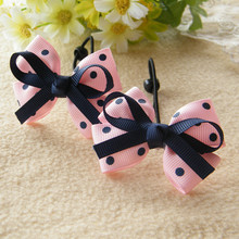 1PCS New Girls Hair Accessories Girl Headwear Baby Elastic Hair Bands Kids Headdress Children Sweet Solid Print Bow Hair Ropes