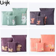 Urijk Pull Edge Travel Pouch For Shoes Portable Storage Bag Waterproof Clothing Bags Self Sealing Underwear Shoes Sorting Bags