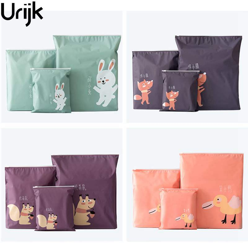 Urijk Pull Edge Travel Pouch For Shoes Portable Storage Bag Waterproof Clothing Bags Self Sealing Underwear Shoes Sorting Bags(China)