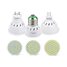 Bright cup type Spotlight E27 MR16 GU10 2835SMD Lampada LED Bulb 220V  LED Lamp 48 60 80 LEDS optional for home indoor lighting