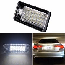 2x Car-Styling 18LED Bulbs Car Led License Plate Lamp For A3 Cabriolet,A4,S4,A6,C6,RS4,Avant Quattro,RS6 Plus,A8,Q7 Accessorie