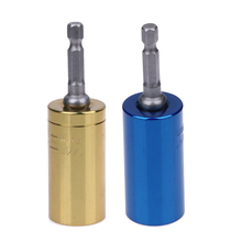 2 Piece/Set  Multi Function Ratchet Universal Socket 7-19mm Power Drill Adapter Car Hand Tools Repair Kit Blue/Gold