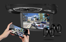 "10.1"" Flip Down Car DVD Car Roof DVD Roof Mounted Car DVD with HDMI Port & 2 IR Headphones & 3 Colors Covers Free Selectable"