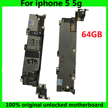 64GB High quality Free iCloud IOS System Logic Board Original Mainboard For Iphone 5 5g motherboard for iphone5 Used Globally(China)