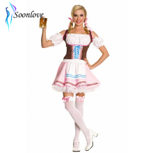 Leg Avenue Women's Pink Germany Beer Muffet Costume(China)