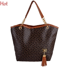 Women Tote Synthetic Leather Handbags Bone Pattern Shoulder Bag Work Shopping Handbag Tassel Chain Bag Vintage Handbags SV006596