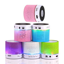 A9 LED Glow Colorful Lighting Speaker Mini Portable Wireless Bluetooth Speakers with Handsfree Microphone Radio For iPhone