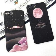 Buy KISSCASE Plane Moon Pattern Case iPhone 8 7 6 6S Plus Matte Hard PC Phone Cases iPhone X Ten 10 5 5S SE Back Cover Shell for $1.99 in AliExpress store