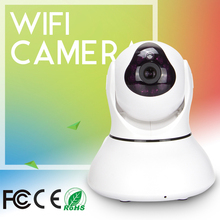 Indoor Pan/Tilt Night Vision Network Wi Fi Camera Onvif 2.0 P2P  Motion Detection IP Camera 1MP Video  H.264 720P Hd 32G Sd Card