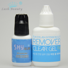 5ml Black Strong S Glue from SKY glue and 15g Gel Remover for Eyelash Extension Use Only Imported from Korea