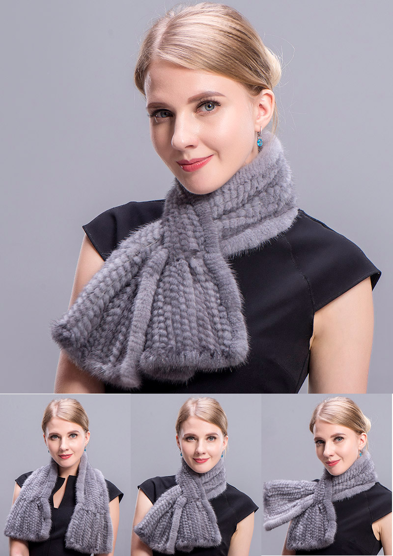 mink scarf grey 5