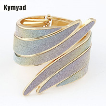 Kymyad Steampunk Bangle Metal Cuff Bangles for Women Angle Wings Wide Bangle Bracelets & Bangles Indian Jewelry Bracelet Femme