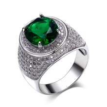 New oval cut big crystal stones cz ring Green and Champagne color anillo dropshipping Trendy Ring For party Jewelry