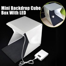Mini Portable Folding lightbox Photography Photo Studio Softbox Lighting Kit Light box for iPhone Samsang Digital DSLR Camera