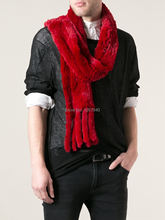 Hot Sale~ New Fashion YR-718 Couples Knitted Rabbit Fur Short Scarf 170*20cm