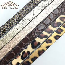 GUFEATHER 10MM leopard print leather cord/jewelry accessories/diy accessories/jewelry making/jewelry materials/Etsy supplier