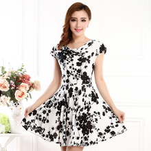 Women's Slip Ice Silk Vintage Bodycon Dress 50s Print summer Casual Party Renaissance Rockabilly Swing Female Dresses