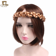 New Women Bohemian Style Big Size Soft Extensions Stretchy Braided Faux Hair Plaits Headband Girls Hairband(China)