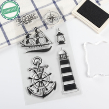 Boat Sea Sailing Compass Silicone Clear Stamp Seal Scrap booking Cards Decor Making Paper Crafts DIY Photo Album Diary Supplies(China)