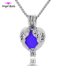 Angel Bola Jewelry Yoga Aromatherapy Essential Oils Surgical Perfume Diffuser Locket Necklace Drop Shipping L181