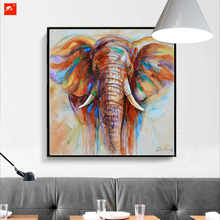 Wildlife Colorful Elephant Picture Canvas Print Plus 50% Oil Painting Home Decor Picture For Bedroom Industrial Loft Livingroom(China)