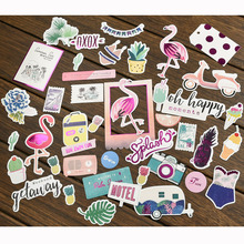 40pc Flamingo Cardstock Die Cuts for Scrapbooking Happy Planner/Card Making/Journaling Project