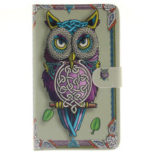 For Samsung Galaxy Tab A 7.0 T280 T285 Case Owls Tiger Flower Wallet Leather Case For Galaxy T280 Cover With Stand Holder