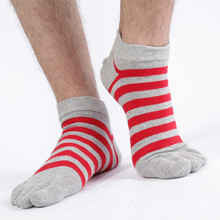6 pairs/lot Four Seasons Men Socks High Quality Cotton Five Finger Toe Breathable Warm Absorb Sweat  Boy Elasticity Sock WZ-90