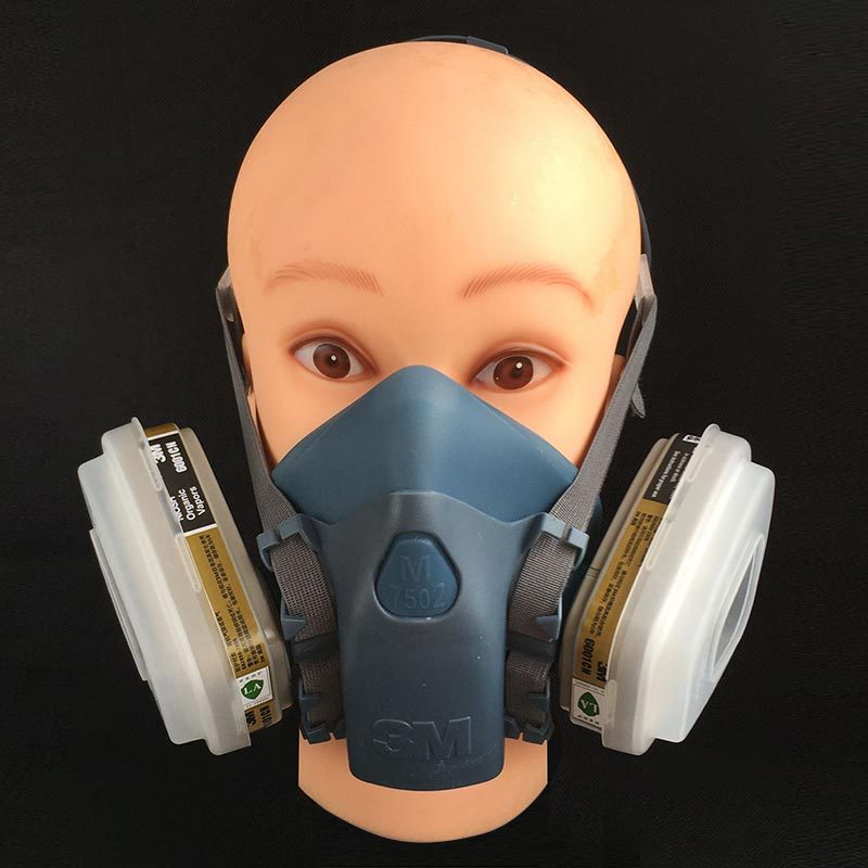 III M respirator 7502 gas mask pesticides pintura painting dust mask silica gel carbon filter mask Free Shipping<br><br>Aliexpress