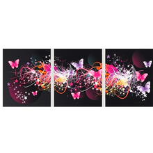 Dream Butterfly Flower triptych Diamond embroidery Painting rhinestones 3D picture cross stitch pattern Home decoration A2207S
