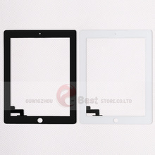 10pcs/lot Touch Screen Glass Replacement Digitizer for iPad 2 Digitizer Touch Screen with adhesive A1395 A1396 A1397(China)