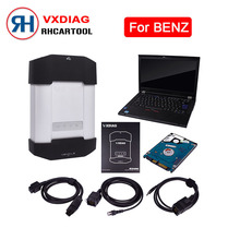 Free Shipping VXDIAG Multidiag Diagnostic Tool for Benz Powerful than MB STAR C4 with LAPTOP T420(I5/4G)+HDD For Benz scanner