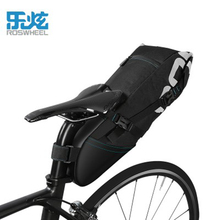 Roswheel Bicycle Saddle Bag Waterproof MTB Mountain Bike Rear Rack Bag 8L/10L Bike Seat Tail Bag Bicycle Cycling Accessories