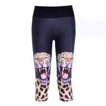 New Fashion Capris Leopard Print Leggings High Waist Animal Printed Leggings Lady's Workout Wear Leggings Casual Pants Plus Size