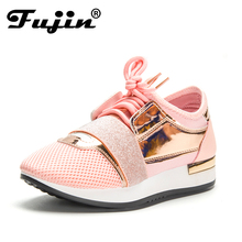 Fujin New 2018 Spring Fashion Women Casual Shoes Pu Leather Platform shoes Women Sneakers Ladies Trainers Chaussure Femme(China)