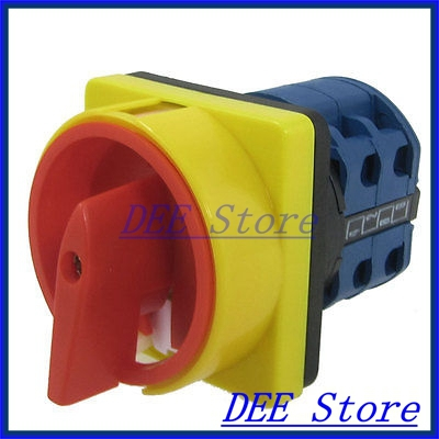 440VAC 240VAC 0-1 ON/OFF Position Rotary Cam Changeover Switch<br><br>Aliexpress