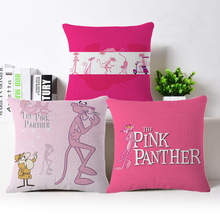 wholesale Selling Cute pink Panther high quality office sofa Cushion Cover Home car sofa decorative pillow case wedding gift