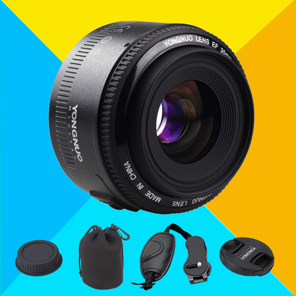 Yongnuo 35mm Lens YN35mm F2 Lens Wide-angle Large Aperture Fixed Auto Focus Lens For Canon 6d 60d 5d mark iii 550d 1100d Camera<br><br>Aliexpress
