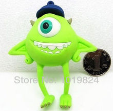 usb stick Best quality Big Green Eyes with a hat shaped memory stick cool pen drive USB 2.0 Flash Memory Pen Drive Stick   S10