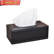 Buy TopAuto Car Paper Rack Tissue Boxes PU Leather Luxury Styling Napkins Standard Hotel Household Home Paper Box Car Accessories for $12.59 in AliExpress store