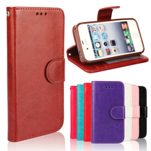 Vintage Design PU Leather Case For iphone 4 4S 4G Stand Wallet Card Slot Photo Frame Mobile Phone Cover For Iphone4 Case