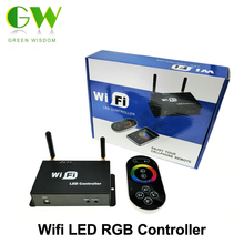 WiFi LED RGB Controller DC5-24V for RGB LED Strip with RF Touch Remote Controller Apply to IOS / Android Mobile Devices.