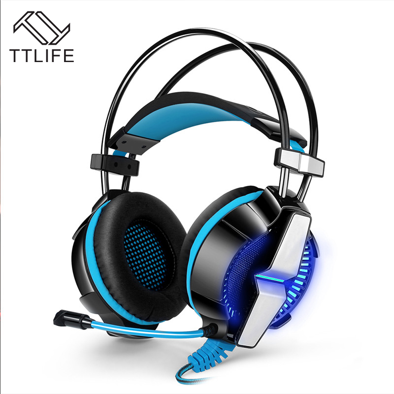 2017 TTLIFE Top Quality GS700 3.5mm Gaming Headphones LED Light Game Headset Headphones Noise Canceling with Mic for PC Gamer<br>