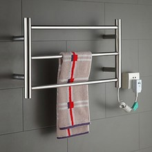Hot Sale Heated Towel Rail, Stainless Steel Electric Towel Warmer Bathroom Towel Racks Holder Bathroom Accessories Wall Mounted(China)