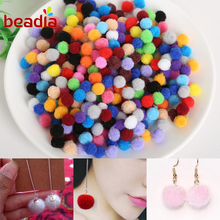 DIY Multi Option Handmade Fit Kids Toy Hairpins Jewlery Accessories Earring Findings Soft Pom Poms balls Beads Decoration(China)