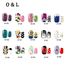 1pcs Adhesive Nail Art Stickers Leopard Cartoon Lace Designs Nail Patch,DIY Beauty Nail Tips Decoration Manicure Tools(China)