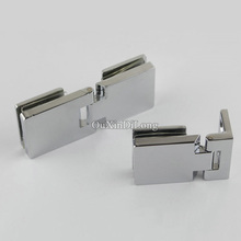 Top Designed 2PCS Glass Cabinet Hinges Display Wine Cabinet Door Hinges Glass Hinges for Cabinet Cupboard Glass Clamps(China)